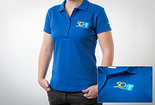 Polo Shirt Embroidered: Women Size M