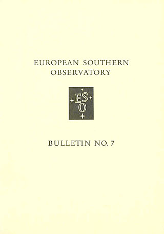 Bulletin 07 - European Southern Observatory