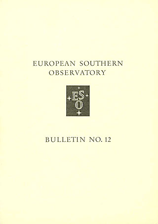 Bulletin 12 - European Southern Observatory