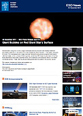 ESO — Giant Bubbles on Red Giant Star's Surface — Photo Release eso1741