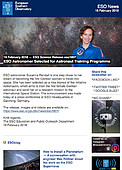 ESO — ESO Astronomer Selected for Astronaut Training Programme — Science Release eso1807
