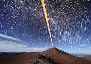Postcard 2017: Paranal lasers outside
