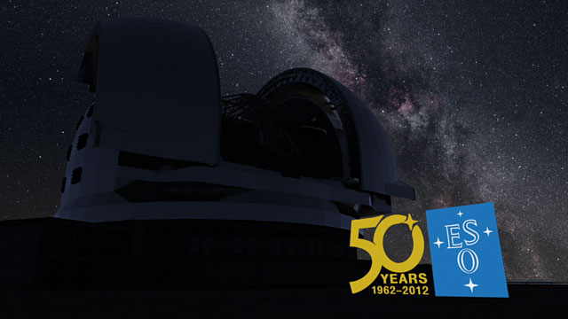 3D animation of the E-ELT (Europe to the Stars Clip)